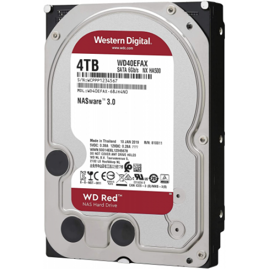 """WD RED 3,5"""" 4TB 256mb 7/24-NAS-SERVER (WD40EFAX) HDD"""